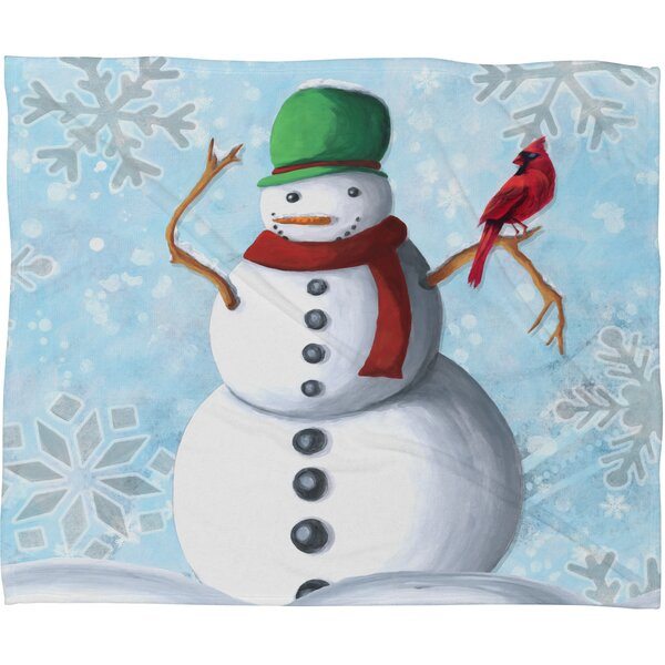 Madart Inc. Winter Cheer Plush Fleece Throw Blanket by Deny Designs
