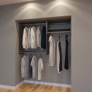 Clearance Cormier 66 W Organizer Closet System (Set of 2) By Rebrilliant
