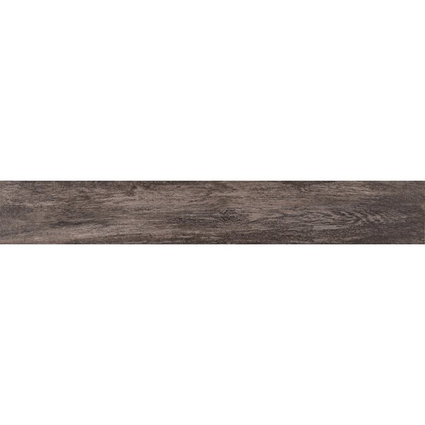 Upscape Nero 6 x 40 Porcelain Wood Look Tile in Black by MSI