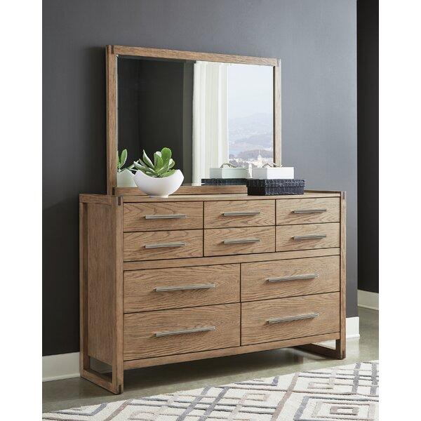 cornelio 10 Drawer Double Dresser with Mirror by Orren Ellis