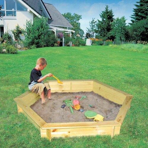 148 cm Sechseckig Sandkasten Ribolla Freeport Park | Kinderzimmer > Spielzeuge > Sandkästen | Freeport Park