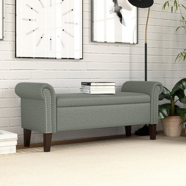 Hilma Rolled Arm Upholstered Storage Bench by Darby Home Co