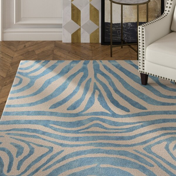 Petunia Hand-Tufted Blue Area Rug by Mercer41
