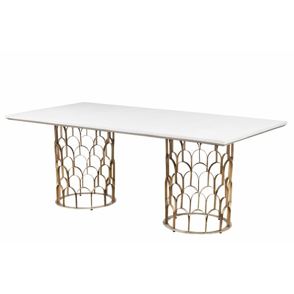 Lavine Dining Table by Everly Quinn