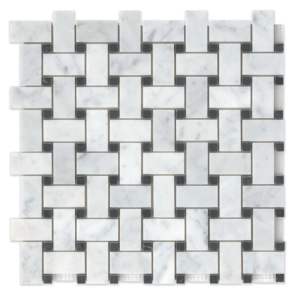 Basket Weave 12 x 12 Marble Mosaic Tile in Aurora by Grayson Martin