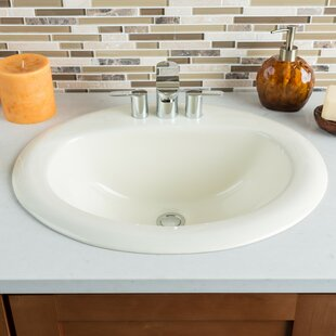 Great choice Ceramic Oval Drop-In Bathroom Sink with Overflow By Hahn