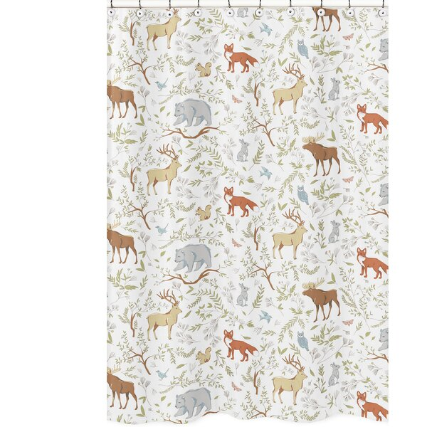 Woodland Toile Cotton Shower Curtain by Sweet Jojo Designs