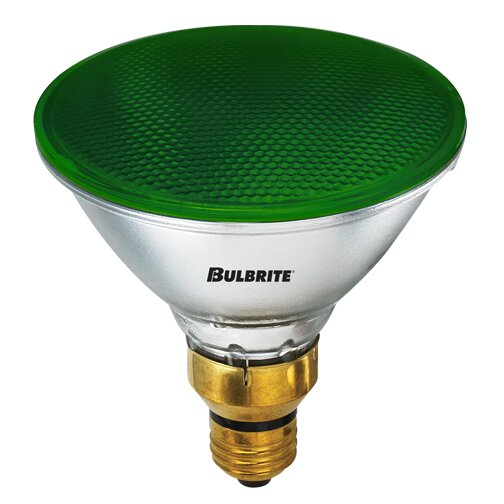 90W E26 Dimmable Halogen Spotlight Light Bulb Green (Set of 2) by Bulbrite Industries