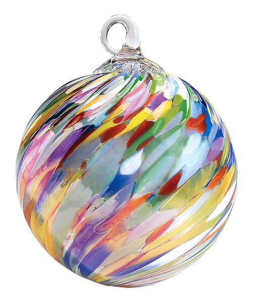 Classic Circus Twist Ball Ornament by The Holiday Aisle