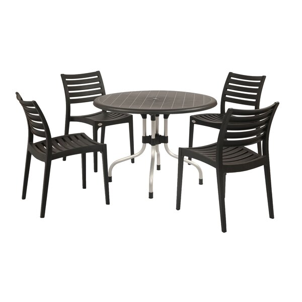 Weingarten Commercial Grade 5 Piece Dining Chair Set by Ebern Designs