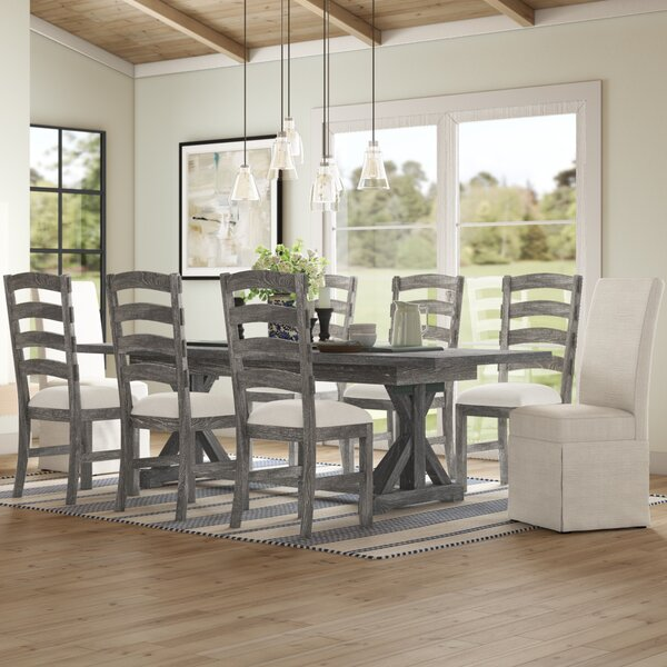 Dumfries 9 Piece Extendable Dining Set by Three Posts Three Posts