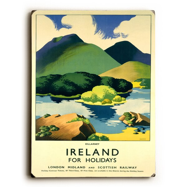 Ireland for Holidays - Killarney Vintage Advertisement by Charlton Home