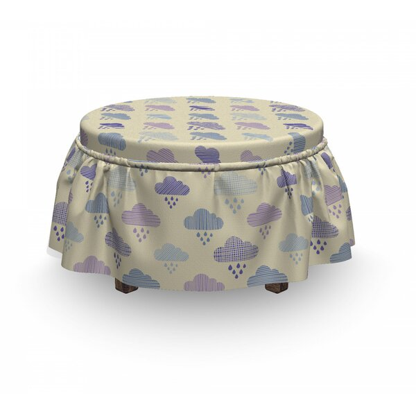 Elemental Cloud Ottoman Slipcover (Set Of 2) By East Urban Home