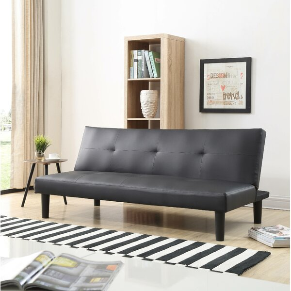 Peavy Click Clack Convertible Sofa by Ebern Designs
