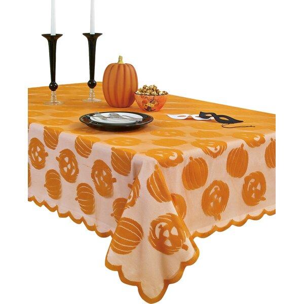 Pumpkin Patch Oblong Lace Tablecloth by Homewear Linens