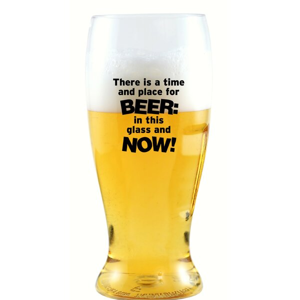 Belcher There Is a Time 10 oz. Beer Glass by Winston Porter