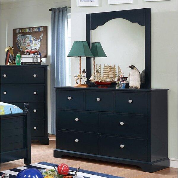 Ratzlaff 7 Drawer Double Dresser with Mirror by Harriet Bee