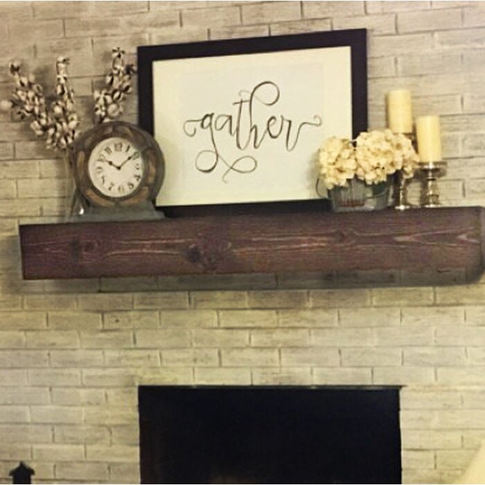 listing mantel beam fireplace wall distressed shelf il wood floating mantle rustic shabby