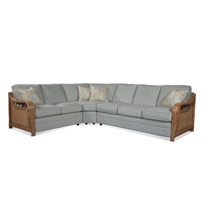 Hanover Park Right Hand Facing Sectional Braxton Culler Arm Color: Havana, Upholstery Color: Beige Solid
