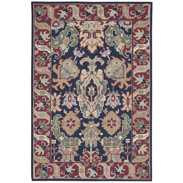 Ferris Navy Area Rug by Darby Home Co