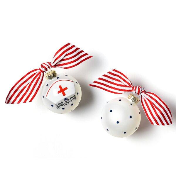 Nurse Glass Ball Ornament by Coton Colors