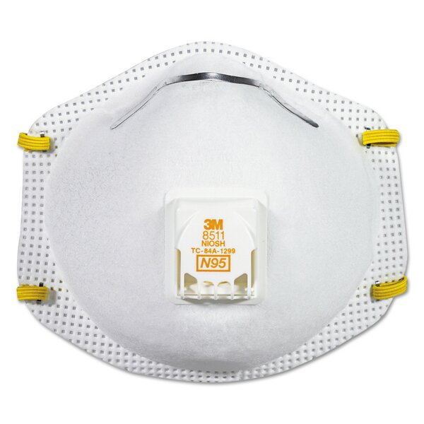 Particulate Respirator with Cool Flow Exhalation Valve, 10 Masks/Box by 3M