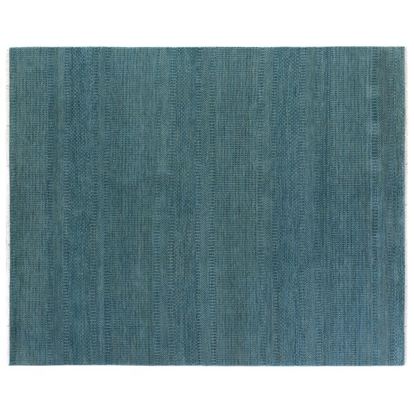 Overdyed Hand Woven Wool Turquoise Area Rug by Exquisite Rugs