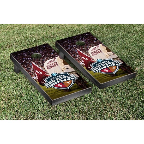 NCAA Red River Showdown Version Cornhole Game Set by Victory Tailgate