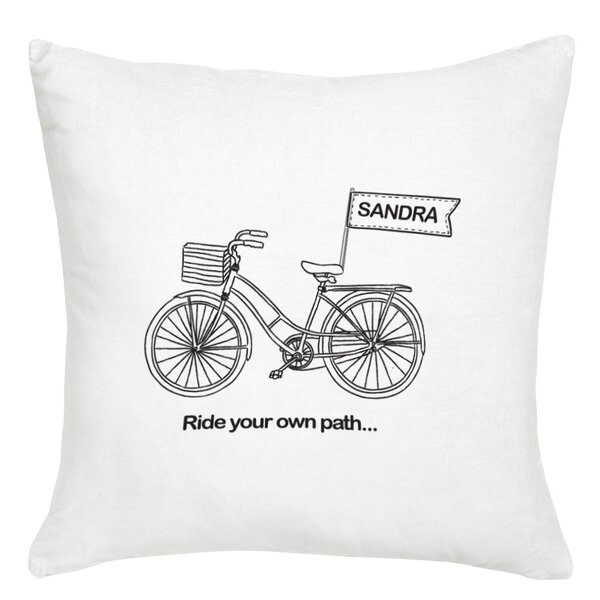 Personalized Ride Your Own Path Cushion Cover by Monogramonline Inc.