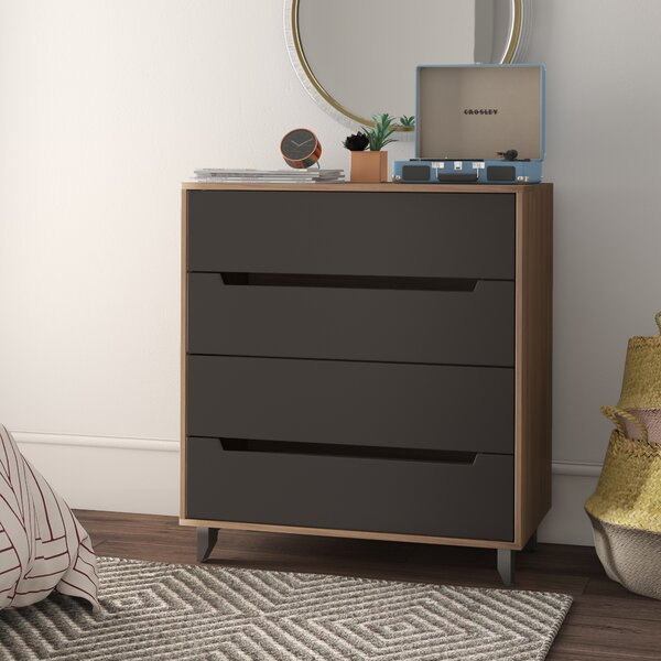 Aristocles 4 Drawer Bachelors Chest by Mercury Row