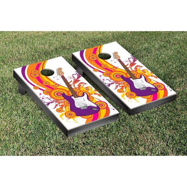 Electric Guitar Cornhole Bean Bag Toss Game by Victory Tailgate