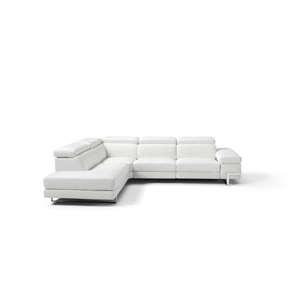 Versha Left Hand Facing Leather Sectional By Orren Ellis