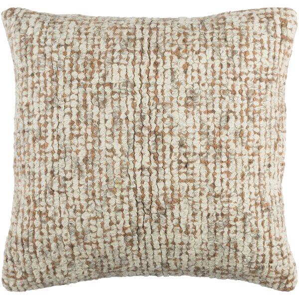 Agathon Wool Throw Pillow by Brayden Studio