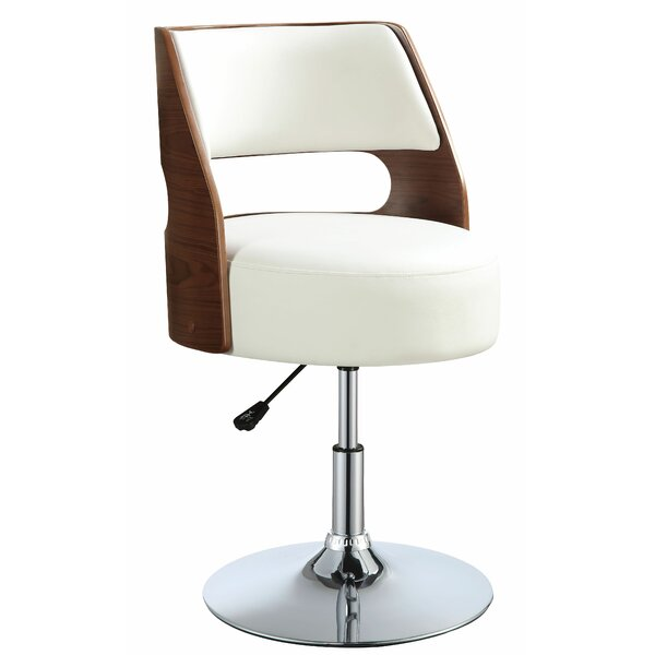 Bulwell Adjustable Height Bar Swivel Stool by Corrigan Studio