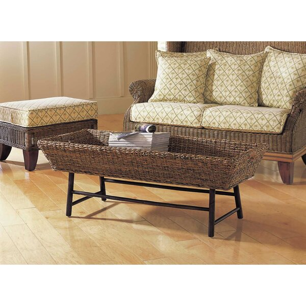Basket Coffee Table With Tray Top By Padmas Plantation