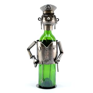 Policeman 1 Bottle Tabletop Wine Rack by Three Star Im/Ex Inc.