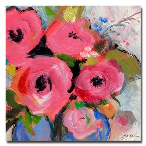 Bouquet in Pink by Sheila Golden Painting Print on Canvas by August Grove