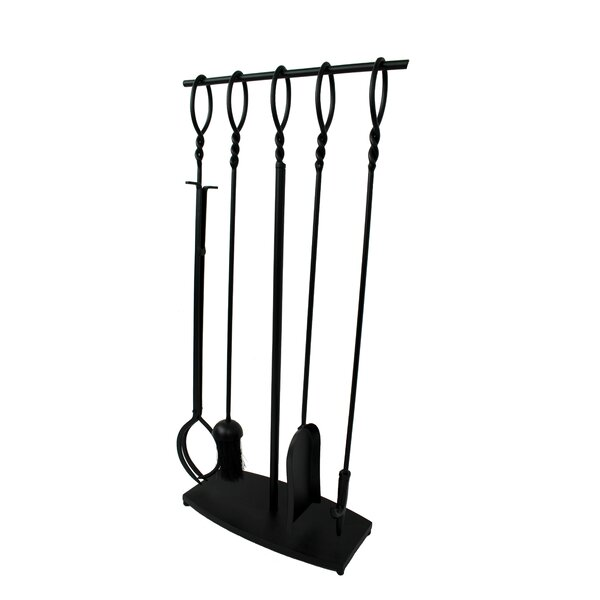 Twist Top 4 Piece Steel Fireplace Tool Set by Habitat Products