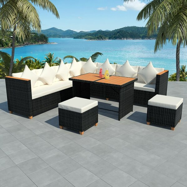 Wadhurst Outdoor 7 Piece Sectional Seating Group with Cushions by Ivy Bronx
