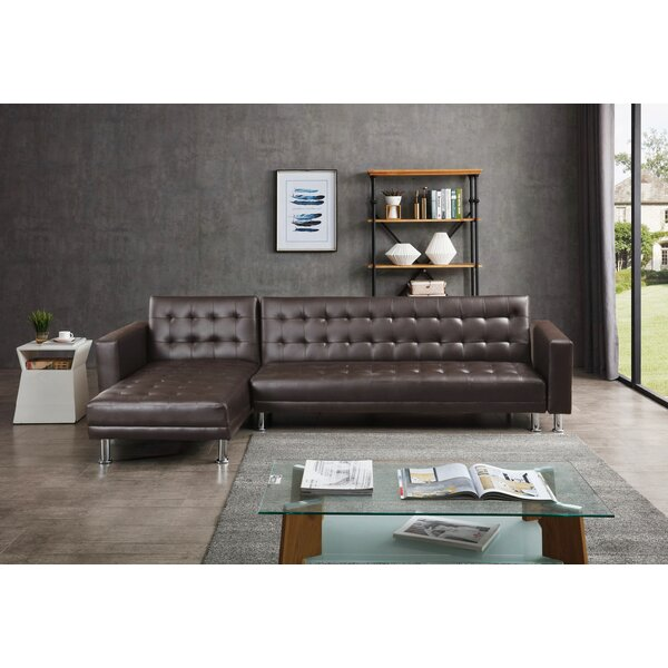 Laux Convertible Reversible Sleeper Sectional By Ivy Bronx