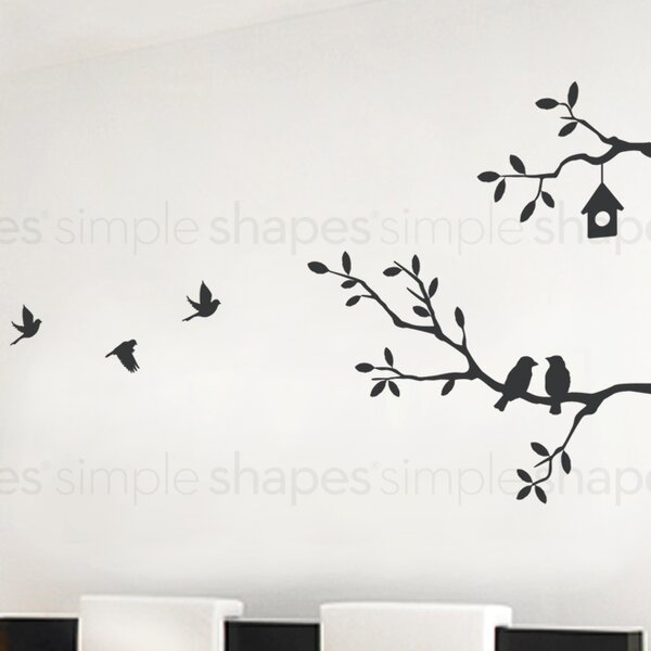 Birds and Branches Wall Decal by Simple Shapes