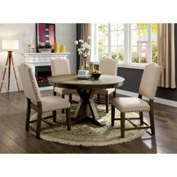 Lowell 5 Piece Solid Wood Dining Set by One Allium Way One Allium Way