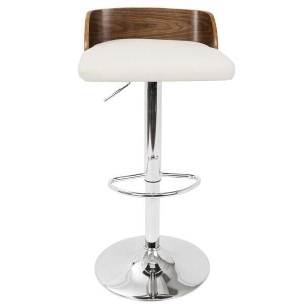 Rockaway Adjustable Height Swivel Bar Stool by Wade Logan