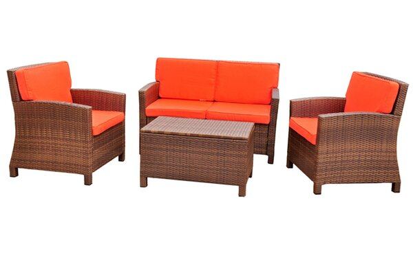 Stapleton 4 Piece Sofa Seating Group by Charlton Home
