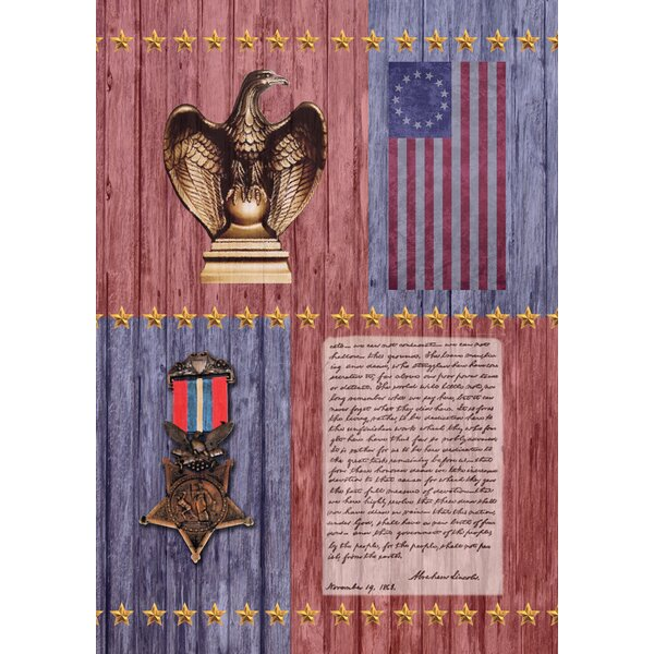 Gettysburg Address 2-Sided Garden flag by Toland Home Garden