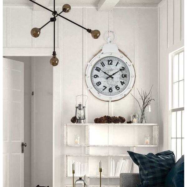 Saxondale 22 Wall Clock by Breakwater Bay