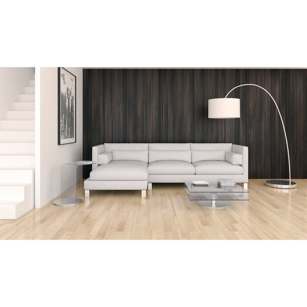 Vannessa Leather Sectional by Orren Ellis