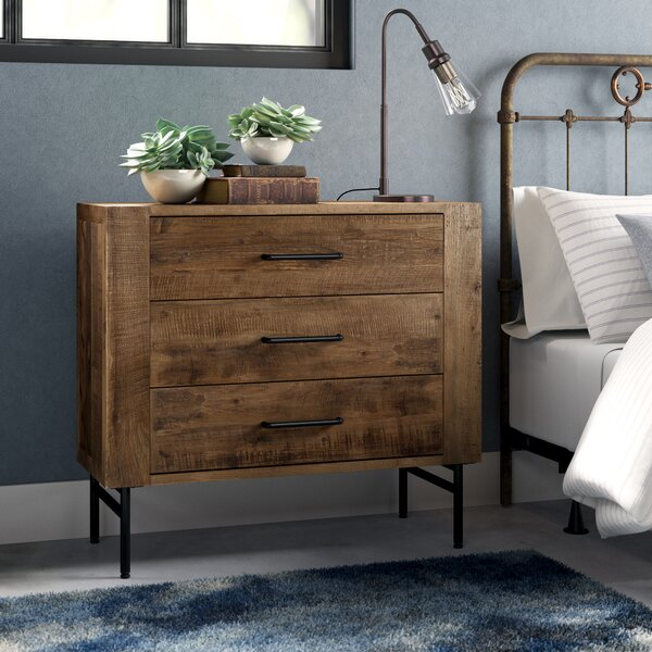 Lolita 3 Drawer Standard Dresser by 17 Stories