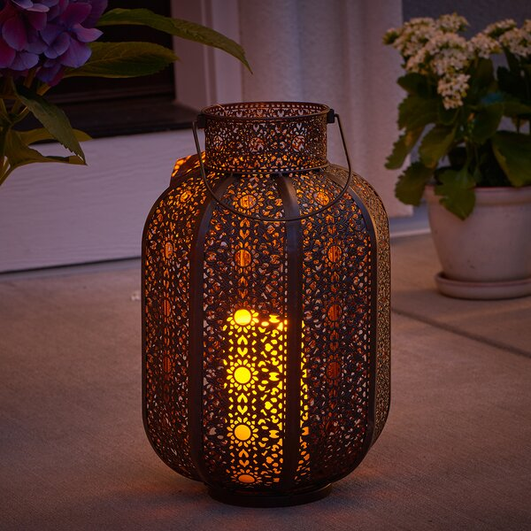 Cadiz Lantern with LED Candle by Smart Living