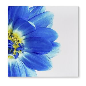 'Blue Petals' Painting Print on Wrapped Canvas by KAVKA DESIGNS